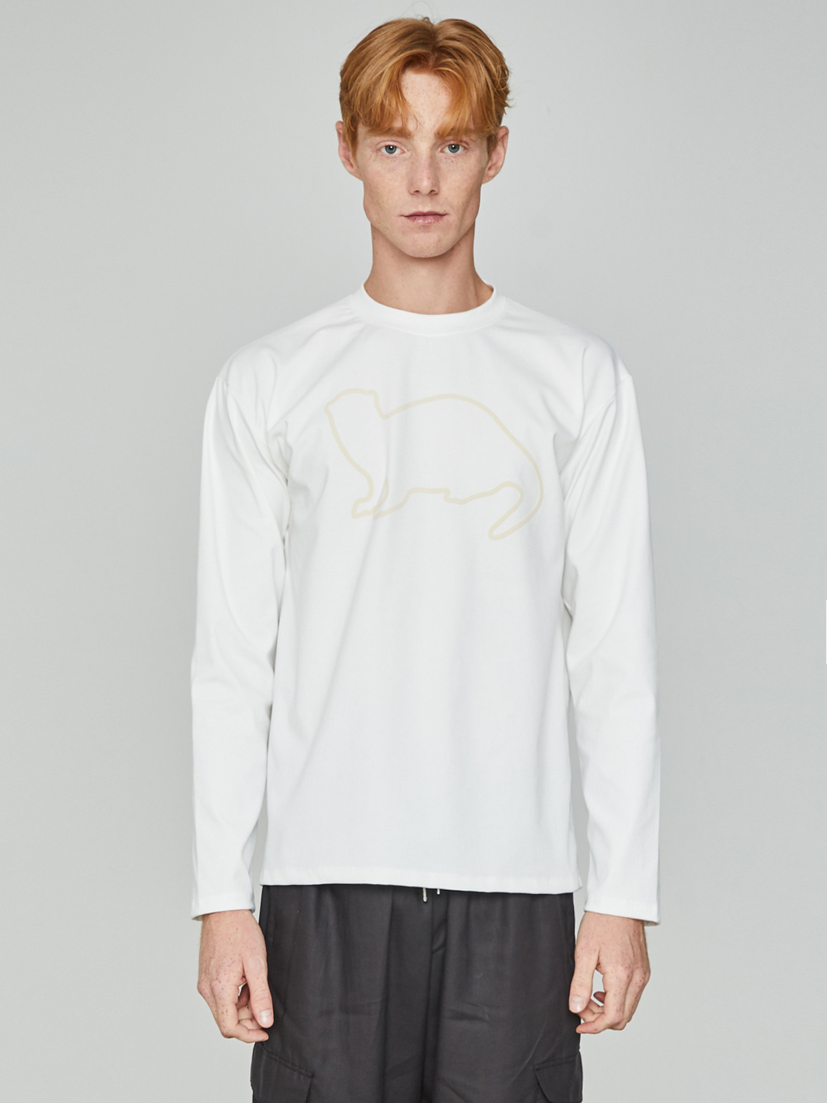 Lazyotter Drawing Long Sleeve Ivory
