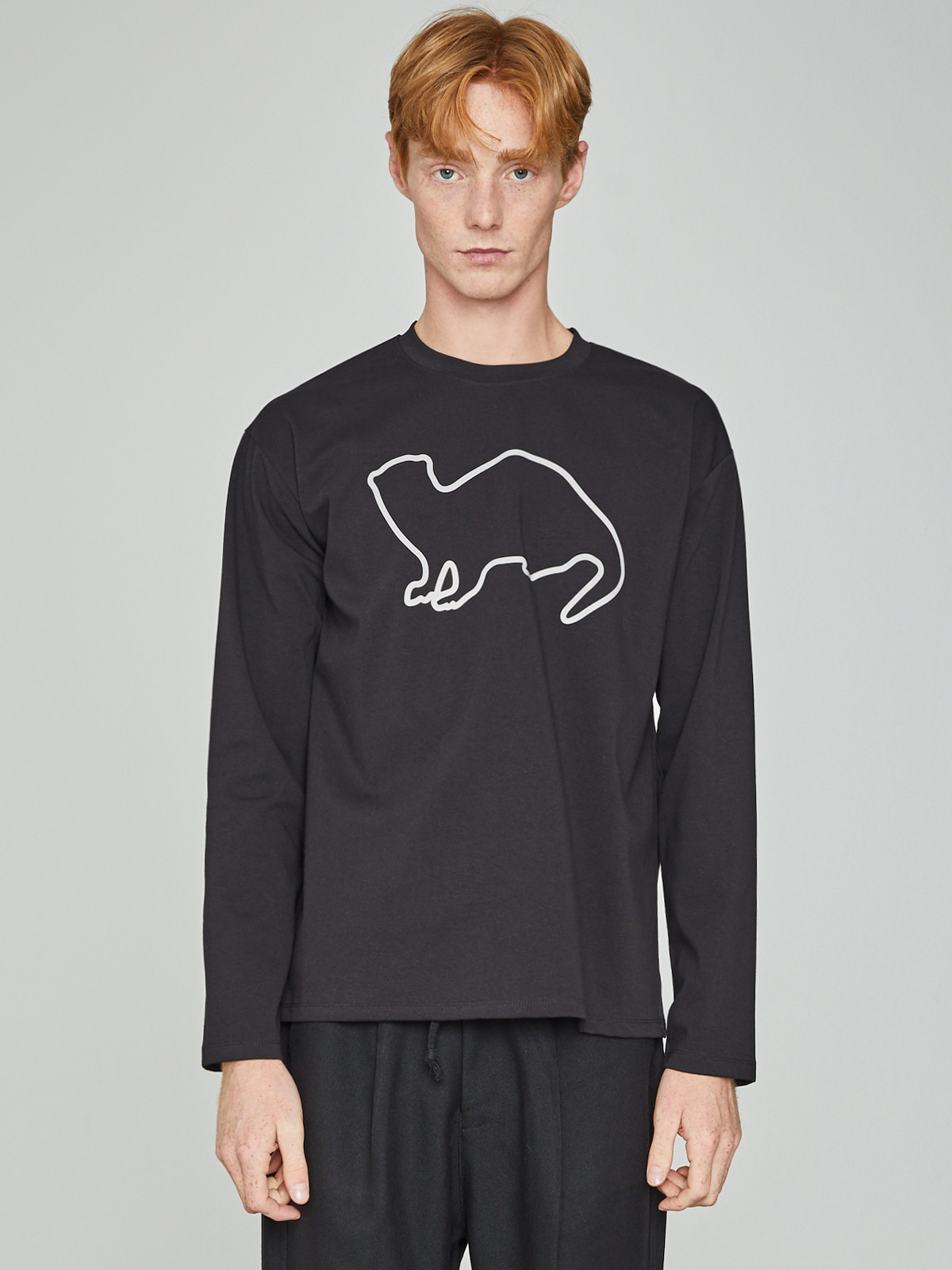 Lazyotter Drawing Long Sleeve_Black