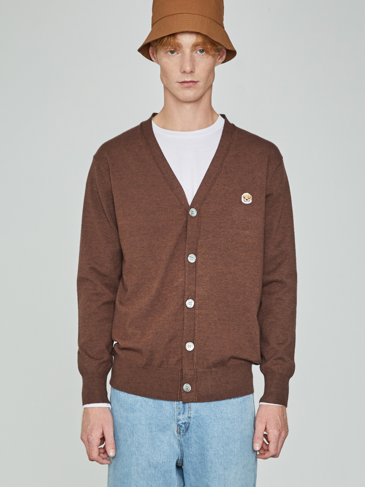 Lazyotter Cashmere Cardigan Brown