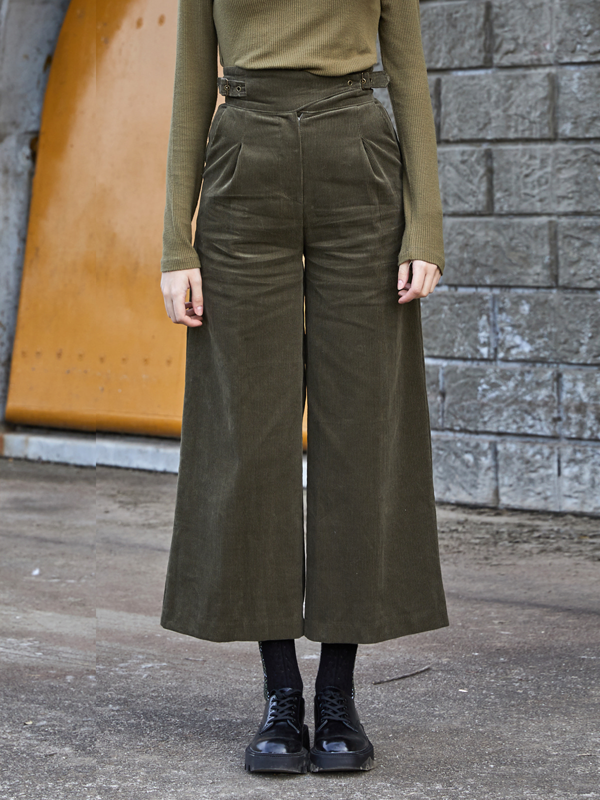Corduroy Belted Pants