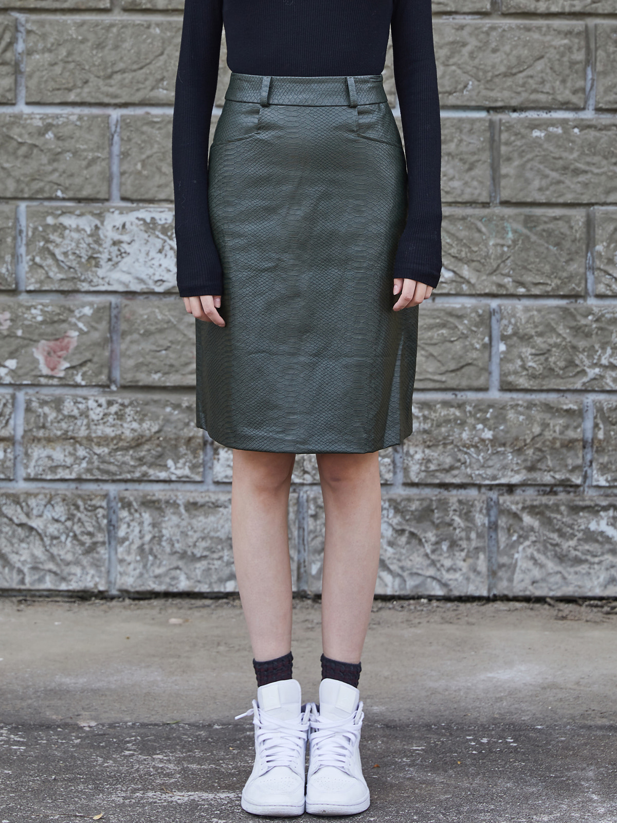 Croco Pattern Skirt