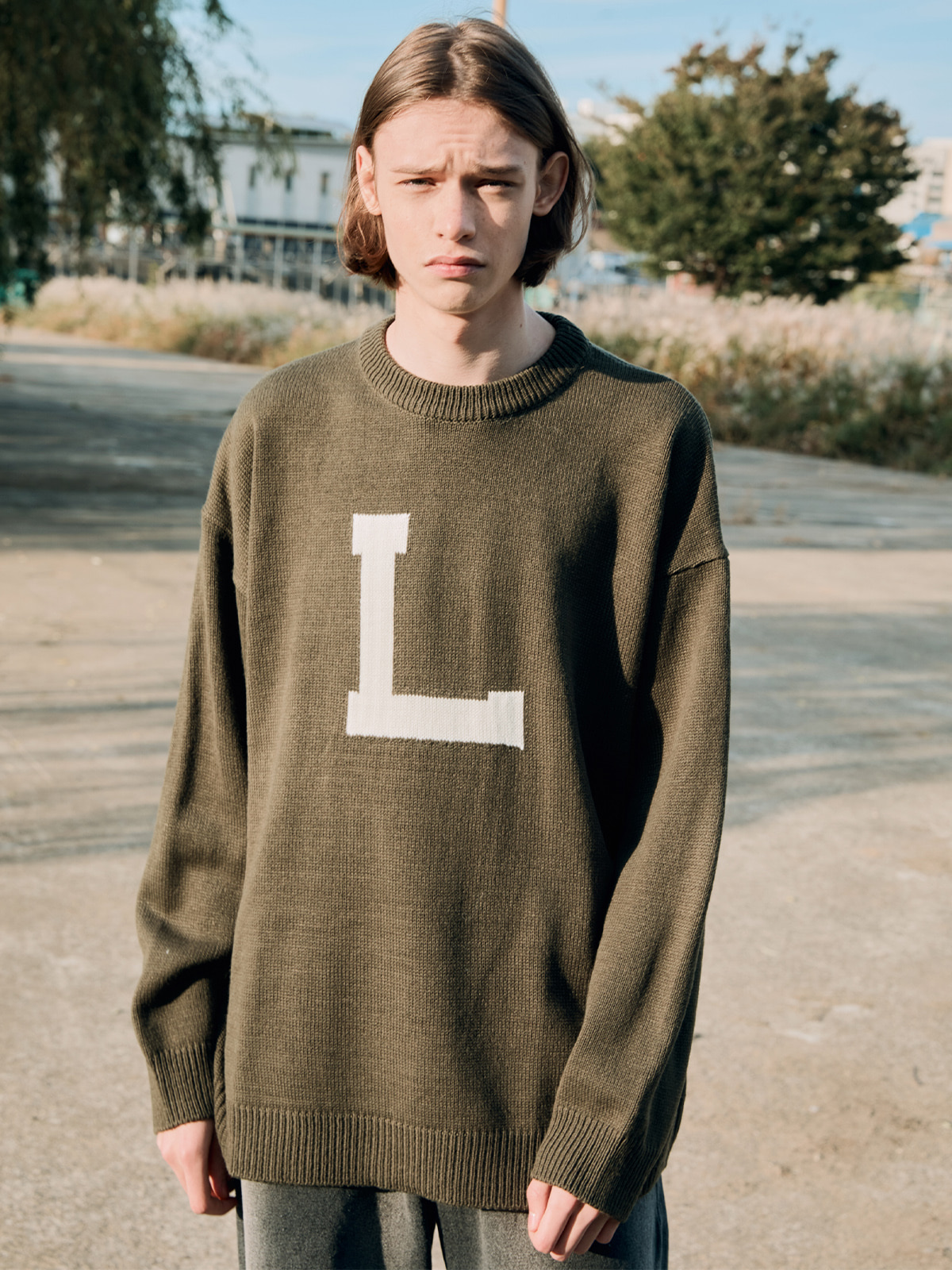Big L Sweater khaki