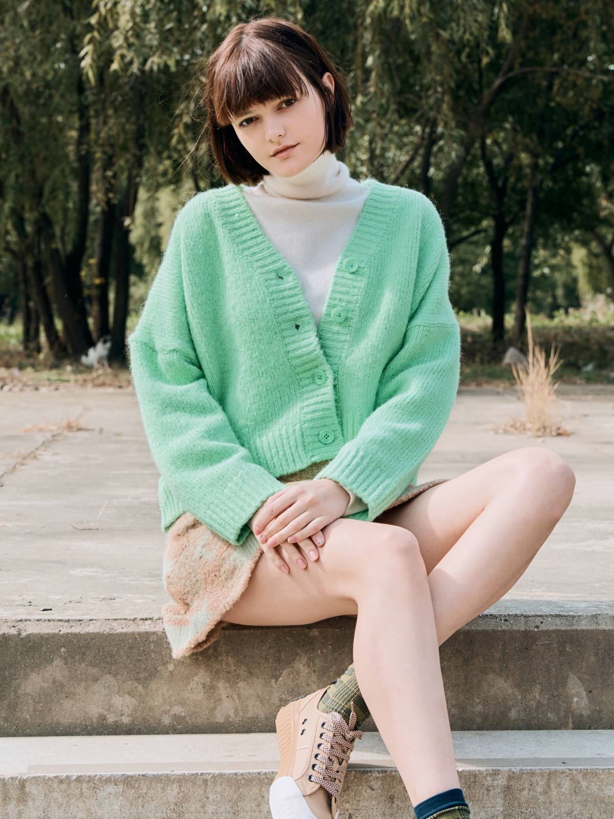 Crop Wool Cardigan